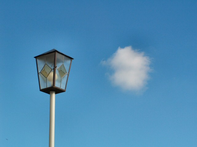 street lamp and cloud